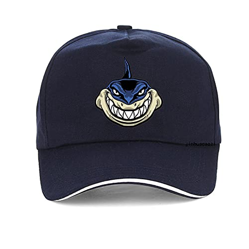 Yooci Gorras De Hombre Encantadora Gorra con Estampado de tiburón Moda Dibujos Animados músculo tiburón Gorras de béisbol Ocio Ajustable Snapback Sombrero Gorras-Azul Marino