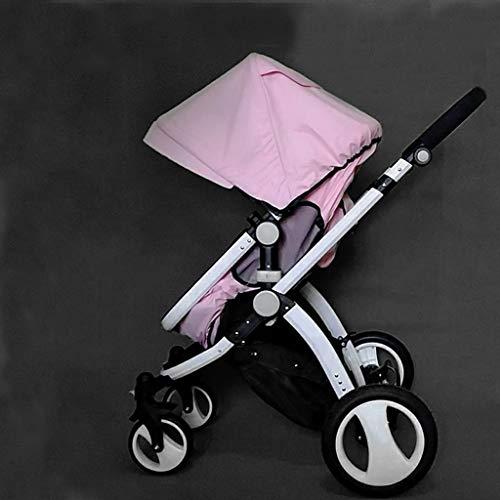 KHUY Légère Pram Voyage Poussette Poussette Carry Bag eith Rain Cover Rainer Couverture Recliner, bébé Landau, siège de Voiture, Poussette (Color : Pink)