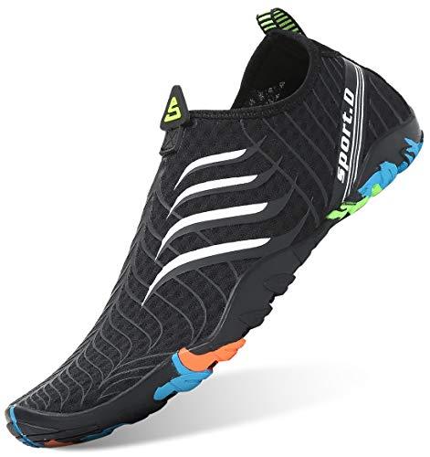 Letnie buty do wody unisex, buty do surfingu, szybkoschnące buty do kąpieli, aquashoes, dla mężczyzn i kobiet, - B czarny 02 - 40 EU