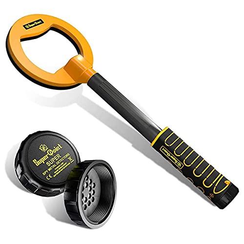 Detector De Metales, Puntero De Metal IP68 Impermeable USB Recargable Recargable Finder De Treasure, 5.9 Pulgadas Búsqueda De Bobina Modo De Buceo Finder De Tesoro Impermeable Con Luces LED,Orange