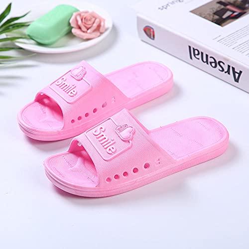 QPPQ Zapatillas de baño junto a la piscina, zapatillas de verano para el hogar, sandalias antideslizantes para interiores y exteriores, color rosa 6, zapatilla de baño para interiores y exteriores