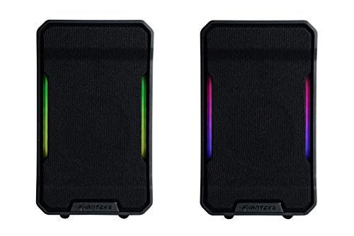 Phanteks Evolv Sound Mini (PH-SPK219_DBK01), Altavoz para Juegos, iluminación Digital-RGB, Color Negro