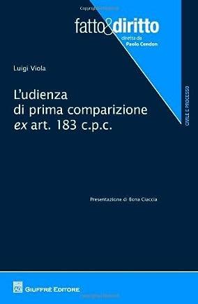 Ludienza di prima comparizione ex art.183 c.p.c. (Fatto & diritto)