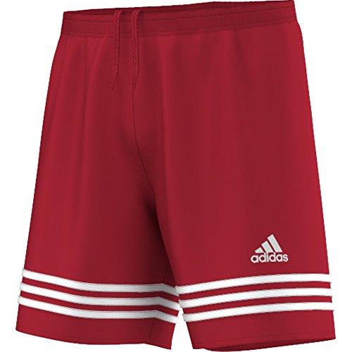"""Adidas - Pantaloncini da allenamento da uomo, modello """"Entrada 14"""", taglia: XXL, colore: rosso/bianco"""