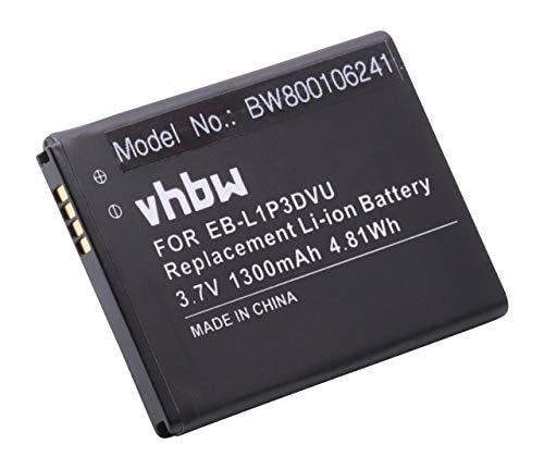 Batteria vhbw per Samsung Galaxy Ace Duos, Galaxy Fame, GT-S6810, GT-S6810P come EB-L1P3DVU. 1300mAh (3.7V)