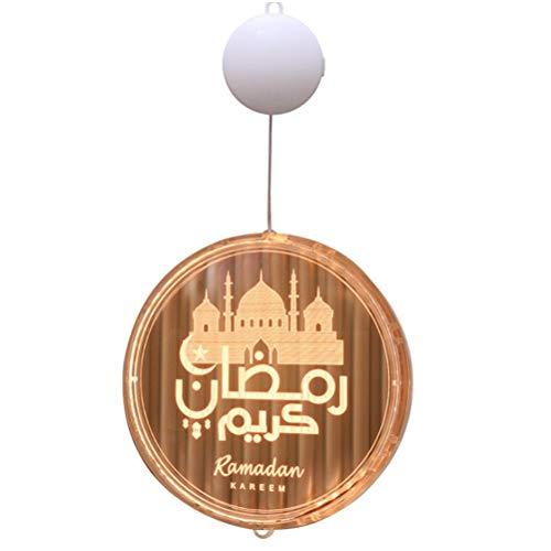 Fyeep Eid Mubarak Nachtlicht Ramadan LED Lichter, Islam Festival Tischlampe Schloss Moon 3D-licht Eid Mubarak Festival-dekor LED Licht Mond Stern Ramadan für Home Room Decoration