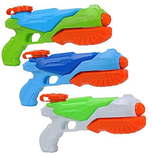 FunsLane Pistolas de Agua, Paquete de 3 Super Soaker Squirt Gun, Juguete de Playa de Verano para ni?os para Fiesta y Piscina al Aire Libre