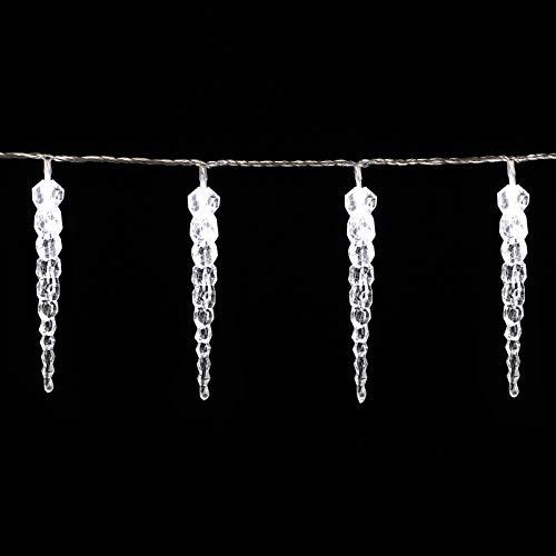 Guirlande lumineuse 80 LED Noël Lumière Blanche décoration Intérieur et extérieur stalactites - polyvalent sapin de Noël, balcon, fenêtre, porte