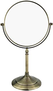 Classical Mirror Bronze Double-Sided Makeup Front Mirror Desktop flip-up Magnifier for Home Dressing Table Bathroom Size 60 * 150 * 360mm