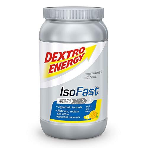 Iso Fast Dextro Energy Drankpoeder met fruitmix, 1120 g, Japanse drankpoeder met elektrolyten, Dextro Energy poeder, één maat