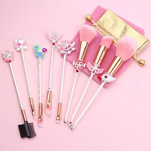 Stella Praiseworthy Sailor Moon Card Captor Sakura Set de pinceaux de maquillage avec sac en velours