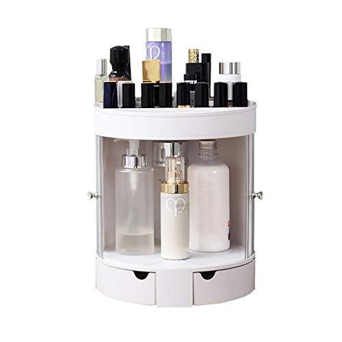 CHICTI Make-up Organisator, grote capaciteit duidelijke bodem roteren lade cosmetica opbergdoos voor dressoir slaapkamer badkamer- grijs