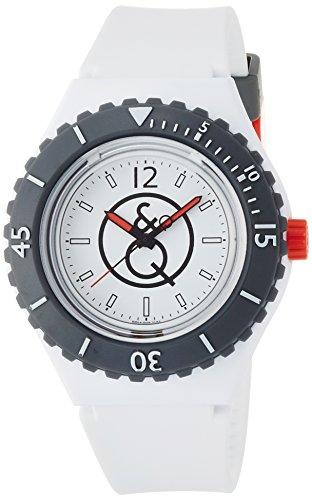 『[キューアンドキュー スマイルソーラー]Q&Q SmileSolar 腕時計 20BAR シリーズ ホワイト RP04-006 メンズ』のトップ画像