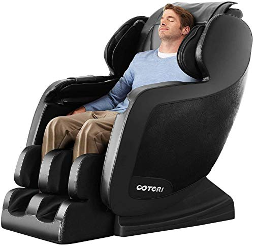 Massage Chair Deluxe with Full Body Air Massage Chair & Heating Therapy (Black)