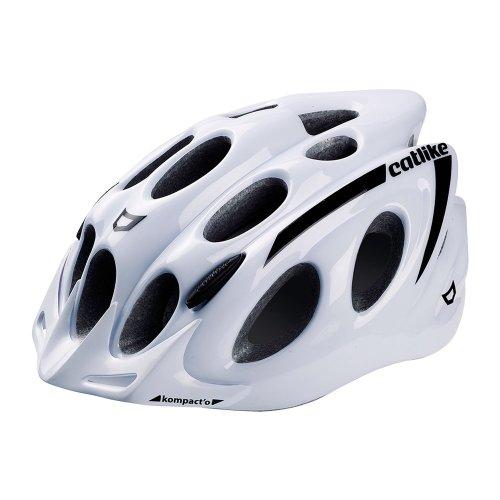 Catlike Kompact'o - Casco de ciclismo, color blanco brillo, M 55-58 cm