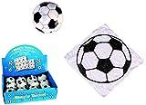 4er Set Magisches Zauber-Handtuch mit Fußball Motiv Waschlappen Kinder-Geburtstag Mitgebsel Geschenk-Idee Party Gewinn Spiel Give-aways Goodies (4er Set)