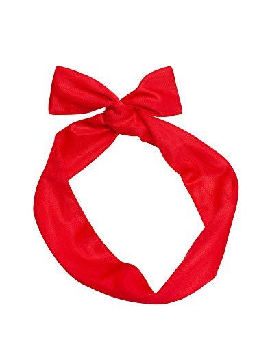 SETRINO Haarband rot Draht als Haarschmuck Kopfband Pinup 50er Rockabilly