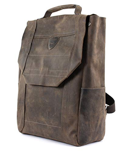 Strellson Hunter BackPack LVF Lederrucksack, Braun