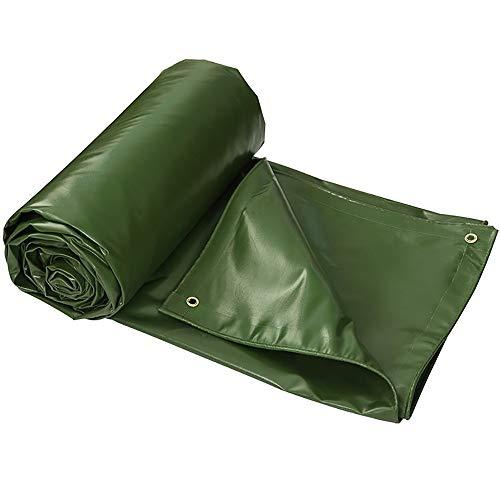 LXLIGHTS Bache Impermeable Auvent, De Plein Air Bâche Camion Linoléum Toile De Protection Imperméable/Neige/Soleil, Epaisseur 0.6MM 550g \ M2 Polyester (Couleur : Green, Taille : 200 * 300cm)