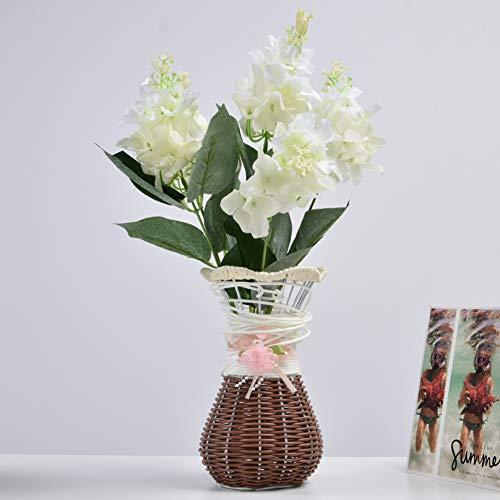 Officenever Wilt Hortênsia Artificial, Flor de Hortênsia Artificial, para Mesa de Sala de Jantar Mesa de Conferência de Escritório