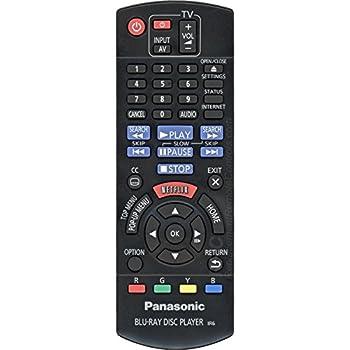 Panasonic Blu Ray Disc Player Remote N2QAYB000952 DMP-BD91 DMP-BD81