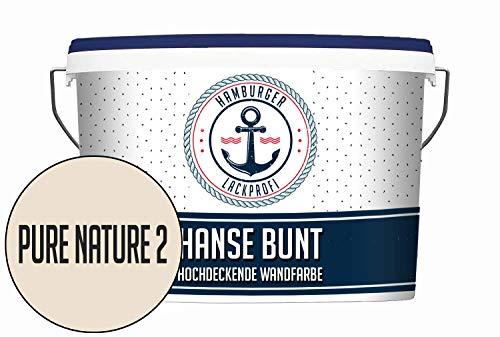 Hanse Wandfarbe Pure Nature 2 matt Beige Innenfarbe Dispersionsfarbe HOCHDECKEND & GERUCHSARM (5 L)