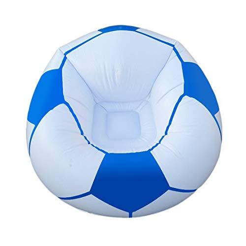 HiXB Aufblasbarer Stuhl Indoor & Outdoor Single aufblasbar Air Blow Up Pod Camping Gaming Festival Sonnenliege Sofa Stuhl Sitz,Blue