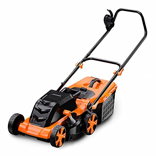 Electric Lawn Mower, Foldable Push Lawn Trimmers with 45L Collection Box, 3 Positions Height Adjustable, Corded Dethatcher for Garden Yard,2300W+20m Wire