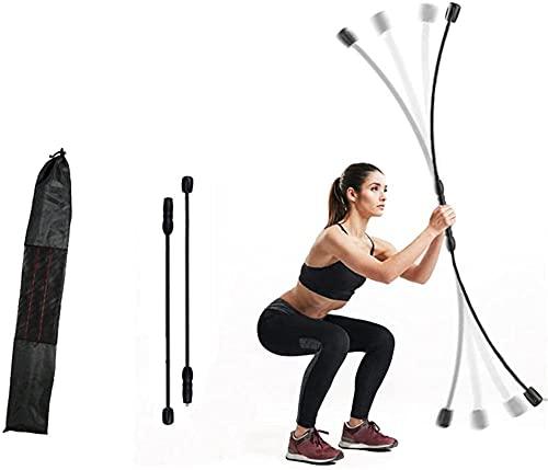 rRB Rrb de Barra de Fitness Barra elástica Fuerza Rrb de Entrenamiento Equilibrio Corporal Entrenamiento Ejercicio en casa Hombro Pecho Cintura Tríceps Ejercicio Activar músculos-Negro