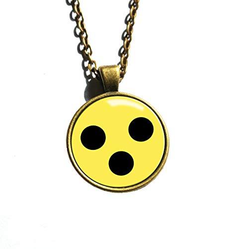 Polarkind Halskette mit Motiv 3 Punkte Alternative für Sehbehinderte zu Blindenabzeichen Armbinde Kette Damen