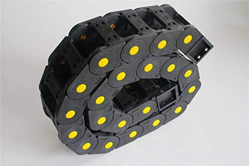 XBaofu 1pc Antriebsketten R55 25x50mm 25x77mm 1M geöffnet auf beide Seite Kunststoff Towline Kabelschlepp for 3D-Drucker-Teile (Farbe : 55mm, Größe : 25x50 mm)