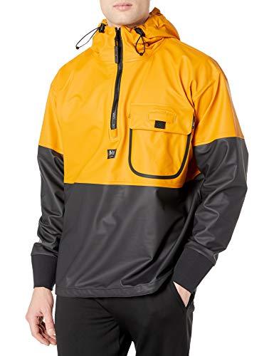 Helly-Hansen Workwear Men's Roan Waterproof Anorak Jacket, Ochre/Charcoal - Large