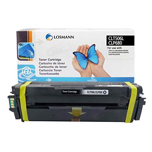 LOSMANN 1x Schwarz Toner Kompatibel für Samsung CLT-506L CLT-K506L K506 für Samsung CLP-680 CLP-680DW CLP-680ND CLX-6260FD 6260FR CLX-6260FW CLX-6260ND CLX-6260 Premium Line Laserdrucker 6.000 Seiten