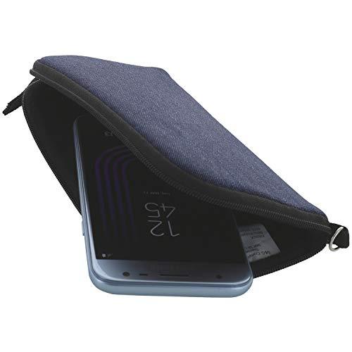 Handyhülle mit Handschlaufe 7.2 - universal Größe 4XL kompatibel mit Samsung Nokia 8.3 / Motorola Moto G - Handytasche blau