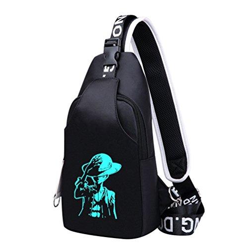WanYangg Sling Crossbag Rucksack Umhängetasche Schulterrucksack Schleuder Tasche Chest Pack Für Arbeit Schul Outdoor Für Damen Und Herren Pirate King