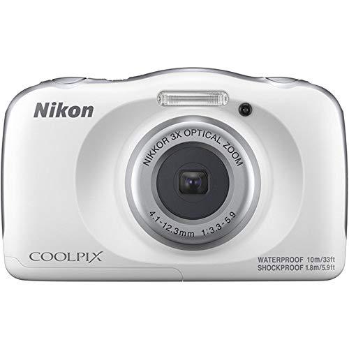 Nikon 26530 COOLPIX W150 13.2MP Waterproof Point & Shoot Digital Camera (White) - (Renewed)