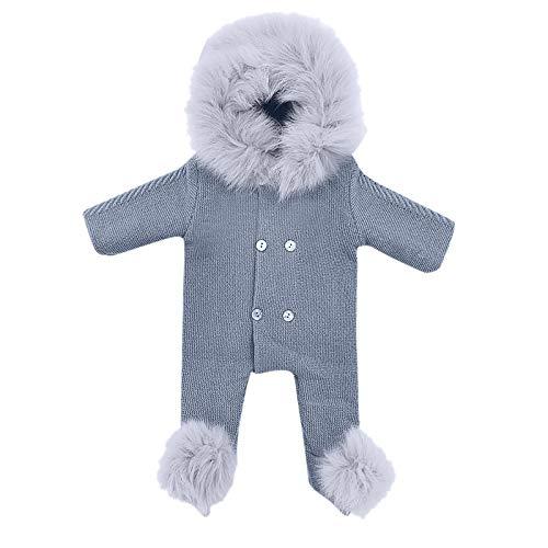 Beudylihy Traje de nieve para niños y bebés, con capucha, chaqueta térmica, abrigo de invierno para exteriores, impermeable, snowboard, invierno gris 12-18 Meses