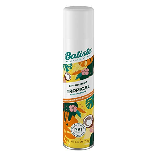 Batiste Tropical Coconut Exotic Dry Shampoo Champú (Ad1161), Incoloro, Aromatic, 200 Mililitros