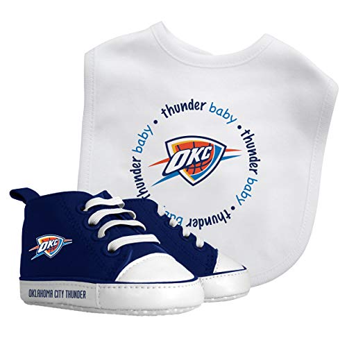 NBA Oklahoma City Thunder Unisex OKC30002Bib & Prewalker Gift Set - Oklahoma City Thunder, See description, See description