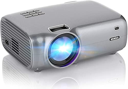 Proyector Portátil Soporta Full HD 1080P Mini Proyector LED Cine En Casa para Telefono/PC/PS5/TV Stick HDMI VGA AV USB