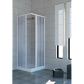 Mampara de baño 90 x 90 cabina angular con anillo de baño de pvc: Amazon.es: Bricolaje y herramientas