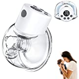 Wearable Breast Pump with LCD Display, Hands Free Breast...