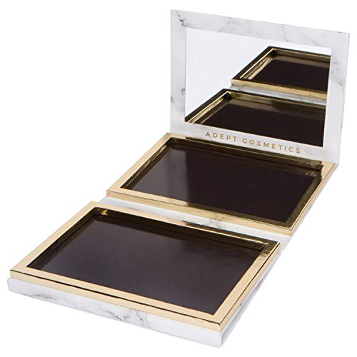 White Marble Extra Large Empty Magnetic Makeup Palette Holds 70 Standard Magnetic Eyeshadows and Comes with FREE Magnetic Stickers. Depot your Highlighters, Blushes, Powders and more