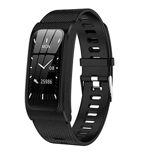 Fitness Armband Uhr mit Blutdruckmessung IP68 Wasserdicht Pulsuhr Sport Damen Herren IOS Android JHCT Schlaf Tracker (schwarz)