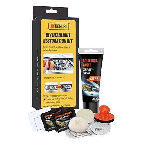 Rainai Scheinwerfer Restaurations-Set Scheinwerfer Aufbereitungsset Scheinwerfer Reparatur-Set Scheinwerfer Politur