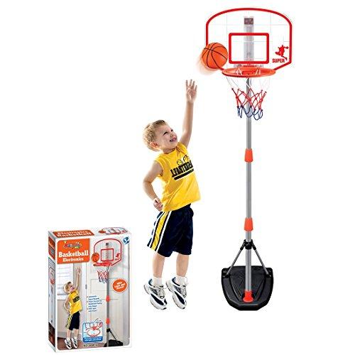 Giow Kinder Basketball Rückenbrett Basketballkorb und Ständer Sport Basketball 97-170 Höhe Basketballkorbset Indoor Outdoor Spiel für Kinder Geschenk, mit Scoring Device