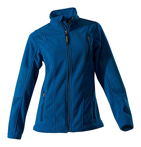 Owney Damen-Doubleface-Fleecejacke Juneau, Petrol Blue, Gr. XL