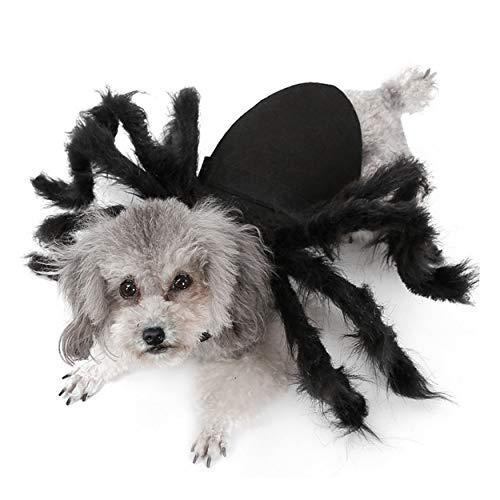 Aramomo Pet Spider Harnas Enge Kostuum Grappige Enge Halloween Kostuum voor Katten Honden!, S, Spider
