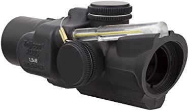 Trijicon TA44-C-400242 ACOG 1.5x16S Compact Low Heightx 40mm, Dual Illuminated Amber Ring & 2 MOA Center Dot Reticle, Black