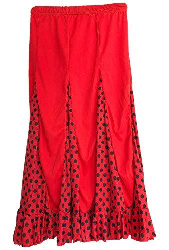 La Seña Flamenco Rock kinderen Spaanse jurken rood met zwarte stippen